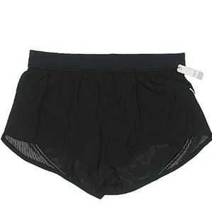 NWT Victoria Sport S Run Shorts Black Zip pocket